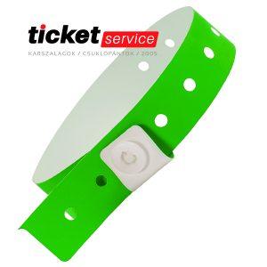 zöld műanyag csuklópánt